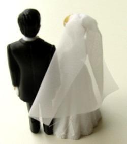 Hochzeitspärchen Tischdeko Hochzeitsfest