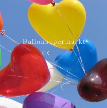 Herzballons Orange