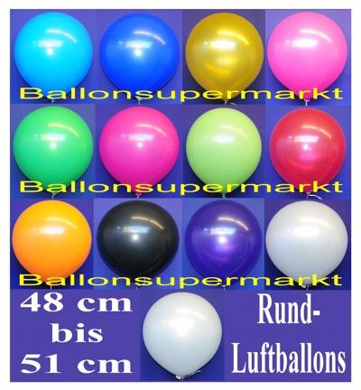 Luftballons 48 cm Standardfarben