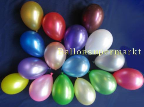 Luftballons Mini in Metallic.Farben
