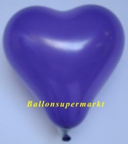 Lila-Herzluftballon-Mini