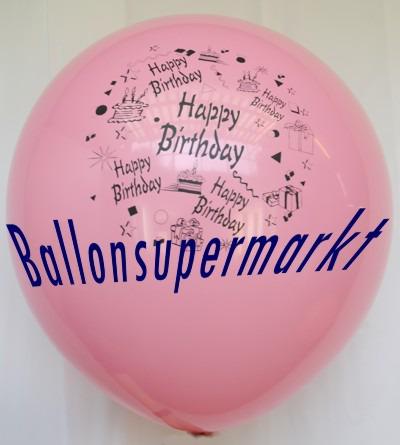 Riesen-Geburtstagsballon-Rosa