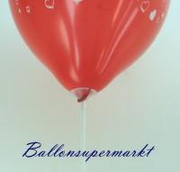 Stab am Luftballon, Ballonstab und Luftballonstab am-Latexballon, Halterung des Luftballons durch einen zweiteiligen Ballonstab