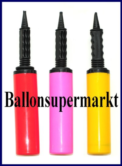 Ballonpumpen vom Ballonsupermarkt, manuelle Pumpen zum Aufblasen von Luftballons