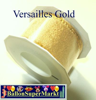 Deko-Zierband-Schmuckband-Versailles-Gold-Rolle
