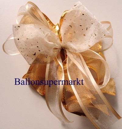 Deko-Zierband-Schmuckband-Versailles-Gold-Zierschleife-Kombi