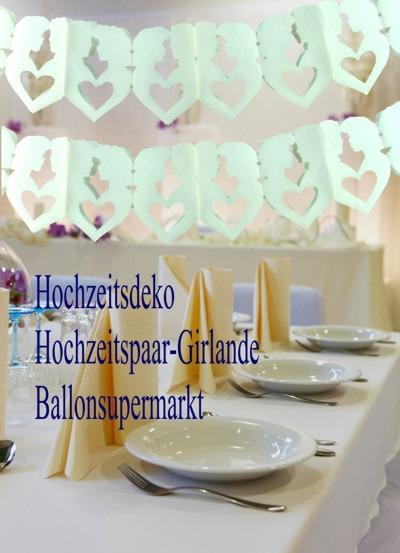 Hochzeit-Dekoration-Hochzeitspaargirlanden
