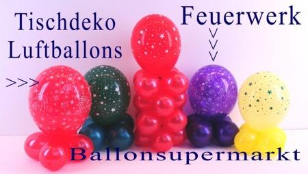 Tischdekoration-Luftballons-Feuerwerk