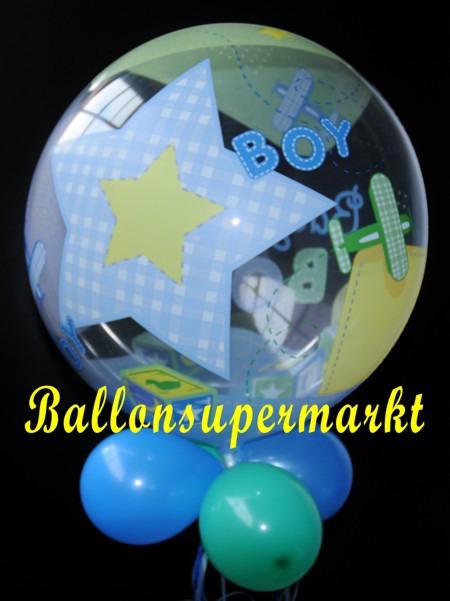 ballonsupermarkt geburt baby boy bubble luftballon mit helium bubbles. Black Bedroom Furniture Sets. Home Design Ideas