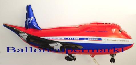 Flugzeug-Luftballon-aus-Folie-Rot