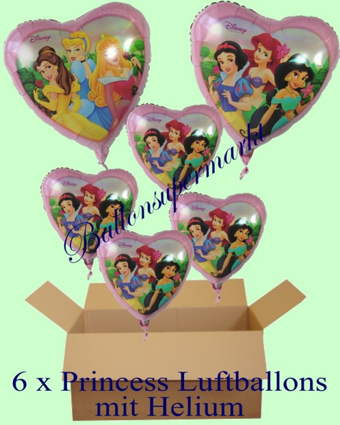 Geschenkidee-Kindergeburtstag-Princess-Herzluftballons-mit-Helium