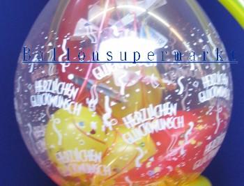 Geschenk zum Geburtstag in Luftballons