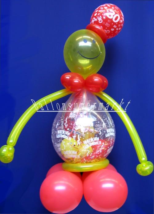 Geschenkballon, Stufferballon, Geschenk zum Geburtstag, Ballonfigur
