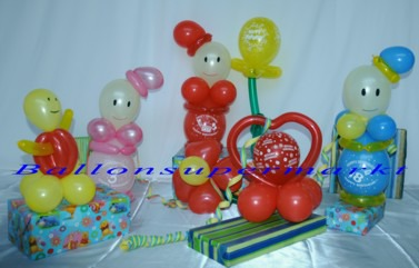 ballonsupermarkt gro e geburtstagsfigur aus luftballons geburtstagsdeko. Black Bedroom Furniture Sets. Home Design Ideas