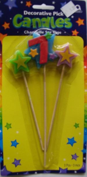 Geburtstagskerze Geburtstagszahl 7