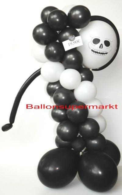 Halloween-Figur-aus-Luftballons-Gespenst