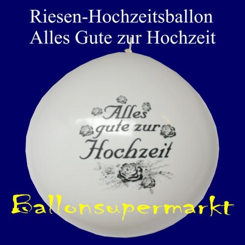 """Hochzeitsballons """"Alles Gute zur Hochzeit"""" Hochzeitsdeko"""