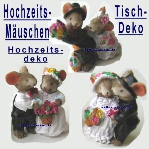Hochzeitspärchen Tischdeko Hochzeitsfest mit Deko-Mäuschen