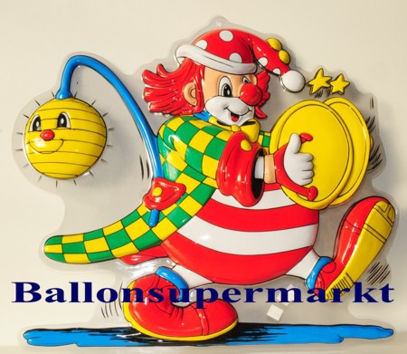 Karnevalsdeko-Faschingsdeko-Clown-mit-Becken