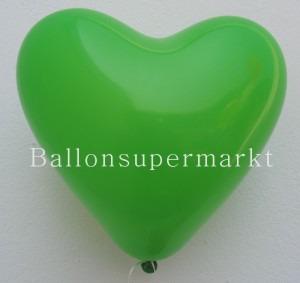 Herzluftballons in Grün
