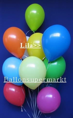 Luftballontraube Standard Rundballons Oval Lila