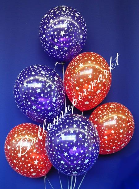 Luftballons-Silvester-Sterne