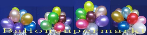 Miniluftballons Metallic