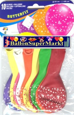 Motiv-Luftballons Schmetterlinge