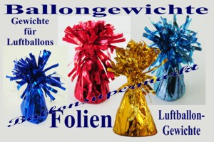 ballongewichte mit Folienverzierung