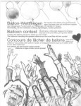 Ballonflugkarten, Weitflugkarten für Luftballons, Karte für den Ballonflugwettbewerb
