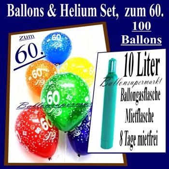 ballonsupermarkt zum 60 geburtstag 100 luftballons mit helium inkl versand. Black Bedroom Furniture Sets. Home Design Ideas
