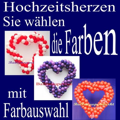 Hochzeitsdeko-Herzen-aus-Ballons-in-verschiedenen-Farben