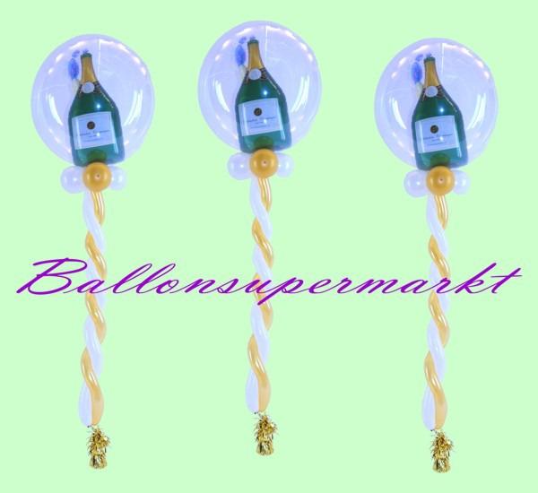 3-Deko-Luftballons-Sekt