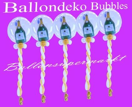Ballondeko-Bubbles-Champagner
