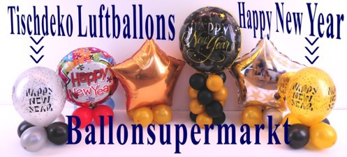 Happy-New-Year-Tischdekoration-Luftballons