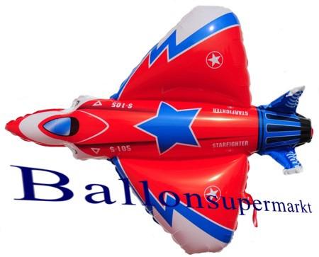 Düsenflugzeug-Starfighter-Luftballon-aus-Folie-mit-Helium-Ballongas