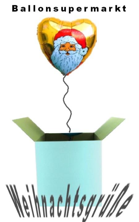 Weihnachtsgrüße, Weihnachtsgeschenke mit Luftballons zum Nikolaus