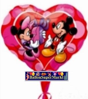 Folienballon Micky Maus und Mini Maus in Liebe