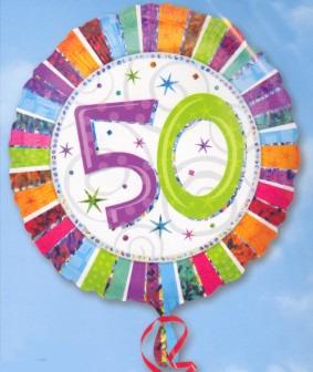 Geburtstag 50. Folienballon