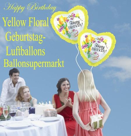 Geburtstags-Luftballons-Yellow-Floral-mit-Helium