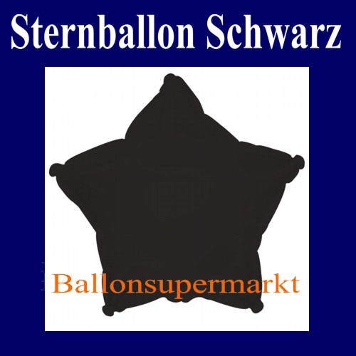 Stern-Folien-Luftballon-Schwarz-45-cm