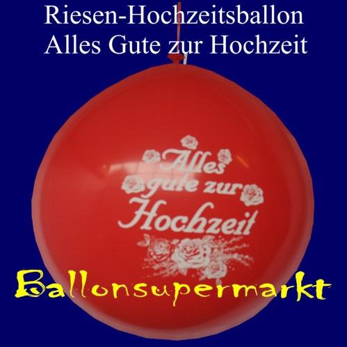 """Hochzeitsballons """"Alles Gute zur Hochzeit"""" Hochzeitsdeko in Rot"""