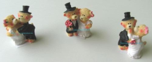 Tischdekoration Hochzeit, Pärchen Hochzeitsbaerchen