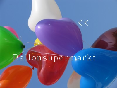 Herzballons Lila