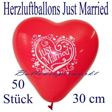 Herzluftballons-Hochzeit-Just-Married-30-cm-50