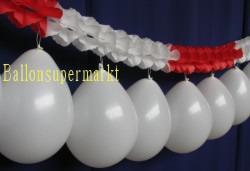 Luftballons Girlande Rot-Weiss 04