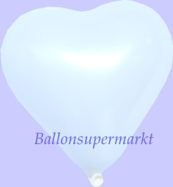 Weisser-Herzluftballon-Mini