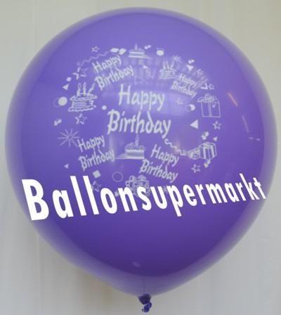 Riesen-Geburtstagsballon-Lila