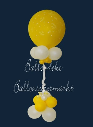 Ballondeko-Hochzeit-Just-Married-Riesenluftballon
