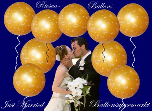 Just-Married-Riesenluftballons-Hochzeit-Gold